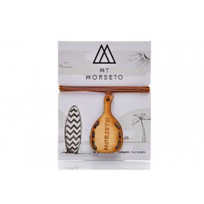 Κρεμαστό mini Ρακέτα Θαλάσσης Ξύλινο Morseto  -Καφέ