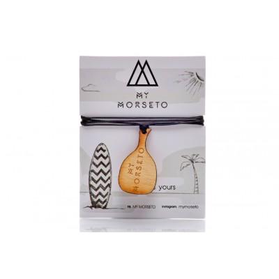 Κρεμαστό mini Ρακέτα Θαλάσσης Ξύλινο My Morseto -Μαύρο