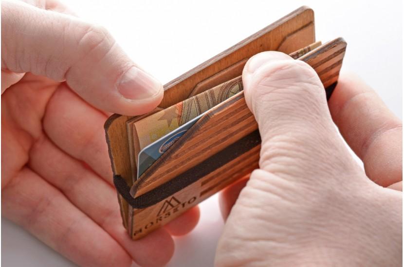 Ξύλινο πορτοφόλι - Stripe  Jack
