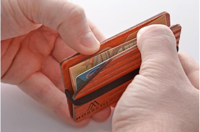 Ξύλινο πορτοφόλι - Stripe Moly