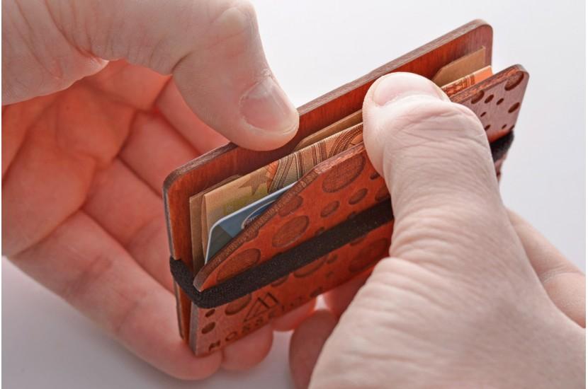 Ξύλινο πορτοφόλι - Cross Red