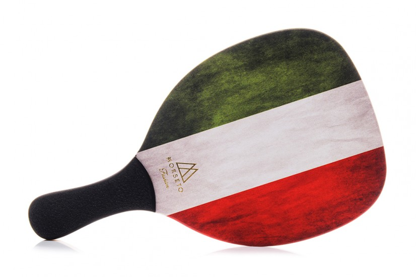 Ρακέτα Παραλίας MORSETO FASHION Italy Flag με Μαύρη Ίσια Λαβή