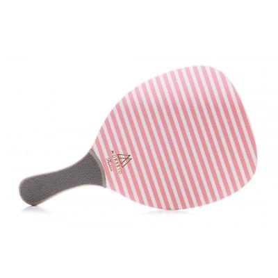 Ρακέτα Παραλίας MORSETO FASHION Stripes Pink με Γκρί Ίσια Λαβή