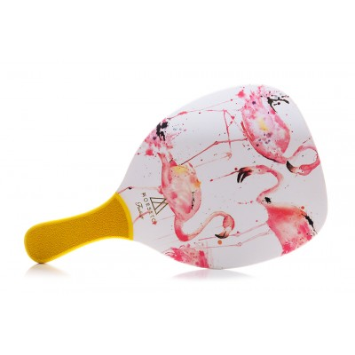 Ρακέτα Παραλίας MORSETO FASHION 3 Flamingo με Κίτρινη Ίσια Λαβή