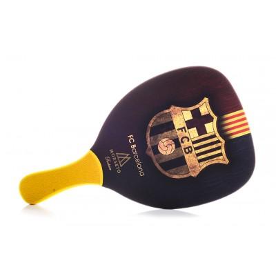 Ρακέτα Παραλίας MORSETO FASHION FC Barcelona με Κίτρινη Ίσια Λαβή