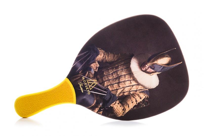 Ρακέτα Παραλίας MORSETO FASHION Vintage Wolverine με Κίτρινη Ίσια Λαβή