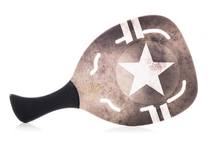 Ρακέτα Παραλίας MORSETO FASHION Army Star με Τρύπες και Μαύρη Λοξή Λαβή