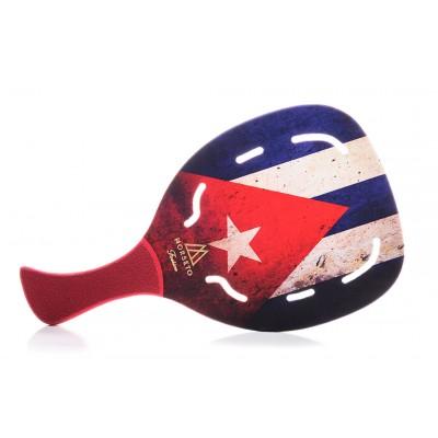Ρακέτα Παραλίας MORSETO FASHION Cuba Flag με Τρύπες και Κόκκινη Λοξή Λαβή