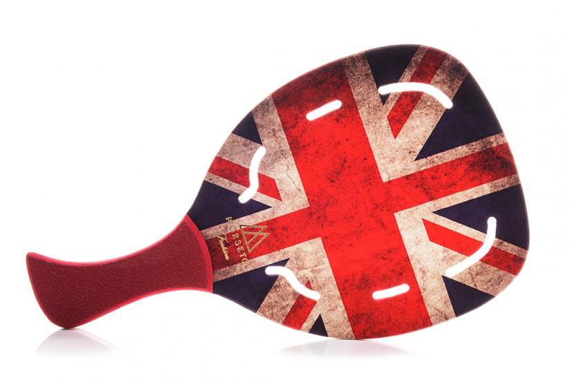 Ρακέτα Παραλίας MORSETO FASHION England Flag με Τρύπες και Κόκκινη Λοξή Λαβή