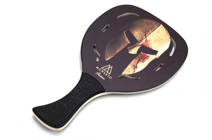Ρακέτα Παραλίας MORSETO FASHION Helmet με Τρύπες και Μαύρη Λοξή Λαβή