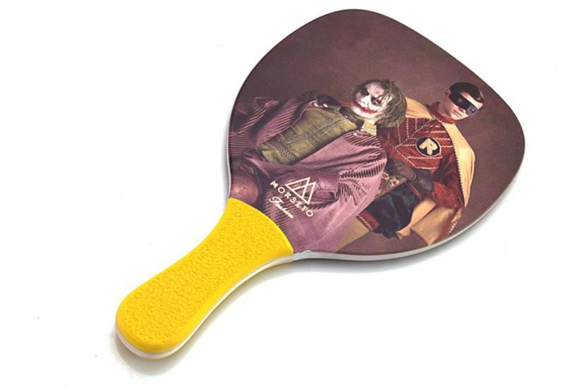 Ρακέτα Παραλίας MORSETO FASHION Vintage Joker - Robin με Κίτρινη Ίσια Λαβή