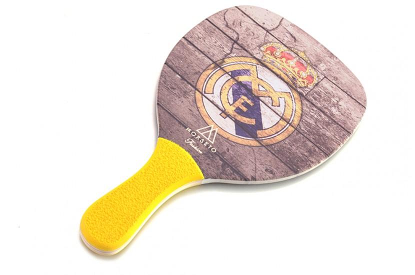 Ρακέτα Παραλίας MORSETO FASHION FC Real Madrid με Κίτρινη Ίσια Λαβή