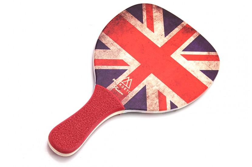 Ρακέτα Παραλίας MORSETO FASHION England Flag με Κόκκινη Ίσια Λαβή