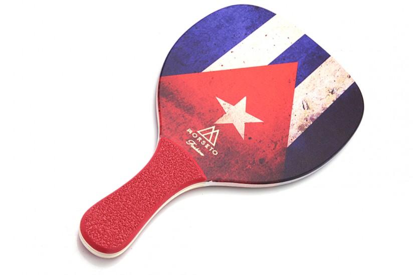 Ρακέτα Παραλίας MORSETO FASHION Cuba Flag με Κόκκινη Ίσια Λαβή
