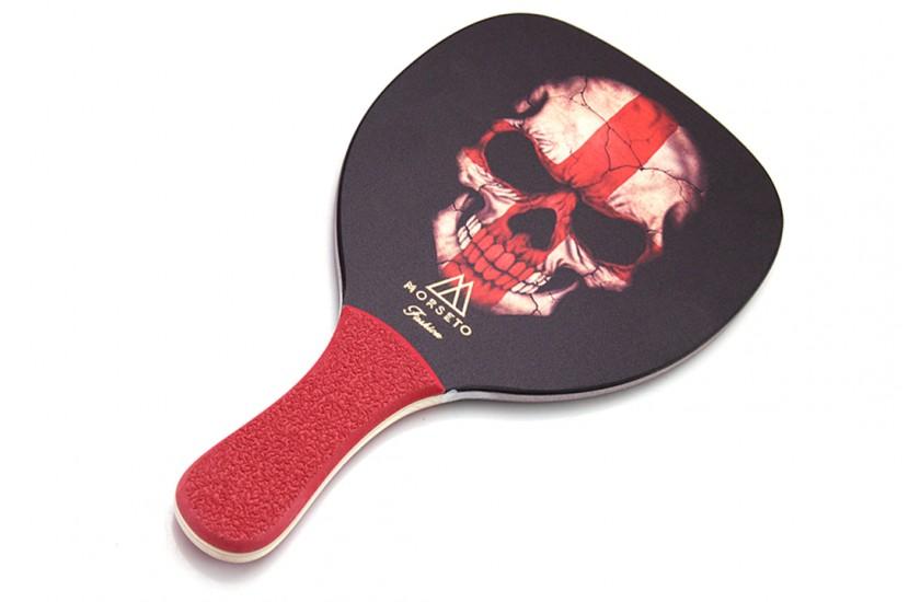 Ρακέτα Παραλίας MORSETO FASHION Skull με Κόκκινη Ίσια Λαβή