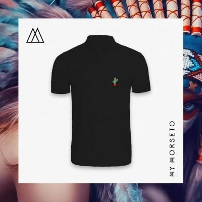 Ανδρικό Μπλουζακι Polo Cactus Μαύρο