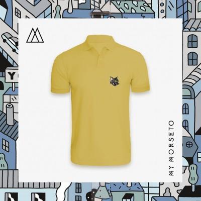 Ανδρικό Μπλουζακι Polo Cat Κίτρινο