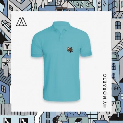Ανδρικό Μπλουζακι Polo Cat Γαλάζιο