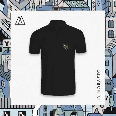Ανδρικό Μπλουζακι Polo Cat Μαύρο