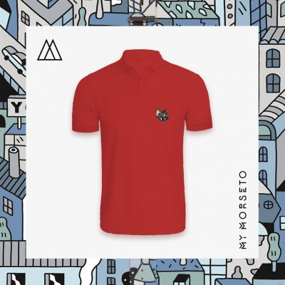 Ανδρικό Μπλουζακι Polo Cat Κόκκινο