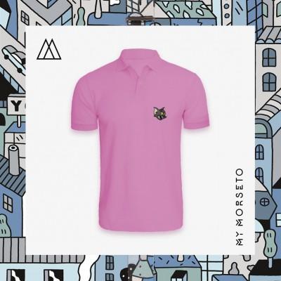 Ανδρικό Μπλουζακι Polo Cat Ροζ