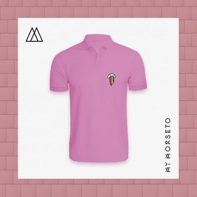 Ανδρικό Μπλουζακι Polo Cloud Ροζ