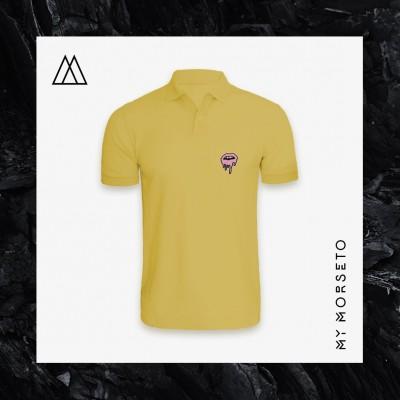 Ανδρικό Μπλουζακι Polo Lips Κίτρινο