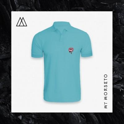 Ανδρικό Μπλουζακι Polo Lips Γαλάζιο