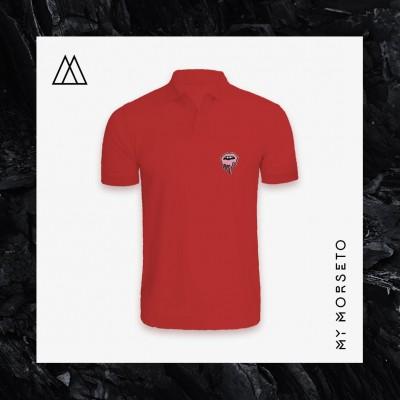 Ανδρικό Μπλουζακι Polo Lips Κόκκινο