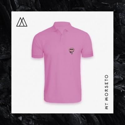 Ανδρικό Μπλουζακι Polo Lips Ροζ