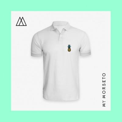 Ανδρικό Μπλουζακι Polo Pineapple Ασπρο