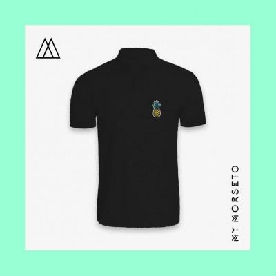 Ανδρικό Μπλουζακι Polo Pineapple Μαύρο