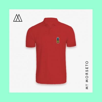 Ανδρικό Μπλουζακι Polo Pineapple Κόκκινο
