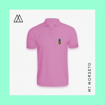 Ανδρικό Μπλουζακι Polo Pineapple Ροζ