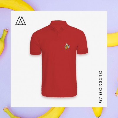 Ανδρικό Μπλουζακι Polo Banana Κόκκινο