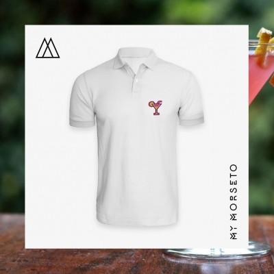 Ανδρικό Μπλουζακι Polo Cocktail Ασπρο
