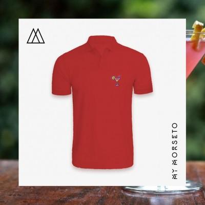 Ανδρικό Μπλουζακι Polo Cocktail Κόκκινο