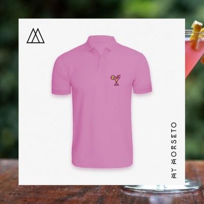 Ανδρικό Μπλουζακι Polo Cocktail Ροζ
