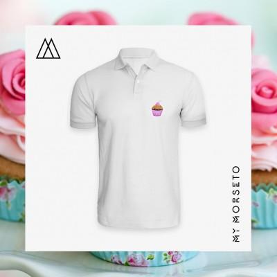 Ανδρικό Μπλουζακι Polo Cupcake Ασπρο