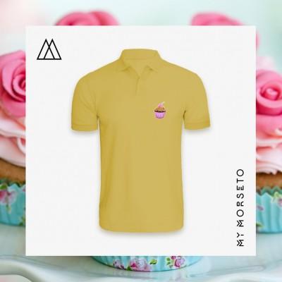 Ανδρικό Μπλουζακι Polo Cupcake Κίτρινο