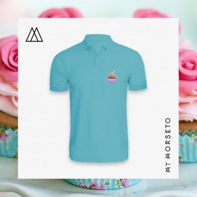 Ανδρικό Μπλουζακι Polo Cupcake Γαλάζιο