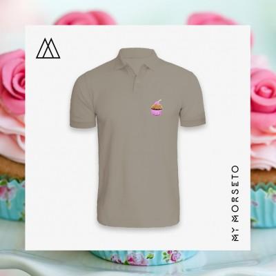 Ανδρικό Μπλουζακι Polo Cupcake Γκρι