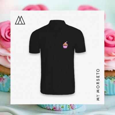 Ανδρικό Μπλουζακι Polo Cupcake Μαύρο