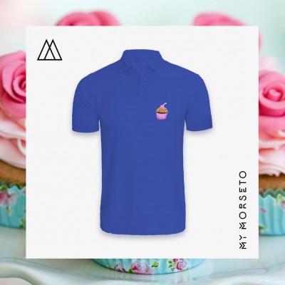 Ανδρικό Μπλουζακι Polo Cupcake Μπλε