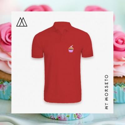 Ανδρικό Μπλουζακι Polo Cupcake Κόκκινο