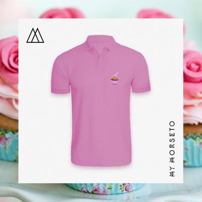 Ανδρικό Μπλουζακι Polo Cupcake Ροζ