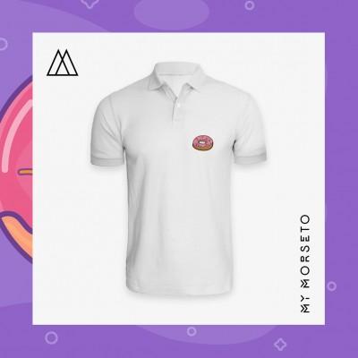 Ανδρικό Μπλουζακι Polo Donuts Ασπρο
