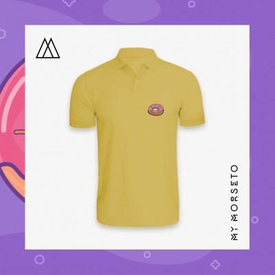 Ανδρικό Μπλουζακι Polo Donuts Κίτρινο
