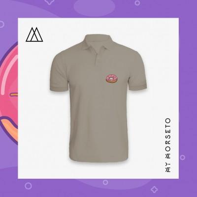 Ανδρικό Μπλουζακι Polo Donuts Γκρι