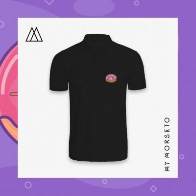 Ανδρικό Μπλουζακι Polo Donuts Μαύρο